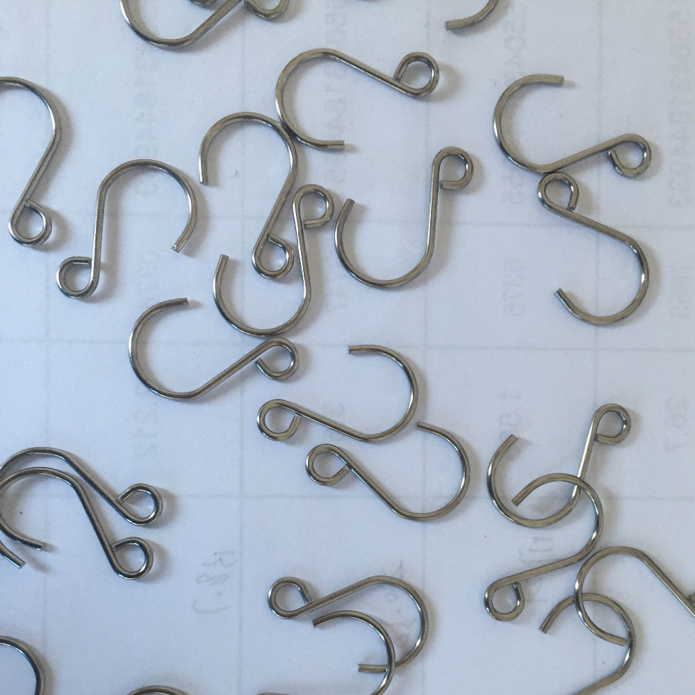 200pcs/lot 22mm Metal Hanging Hooks For Crystal Prism Lighting & Curtain Ending fitting beads chains