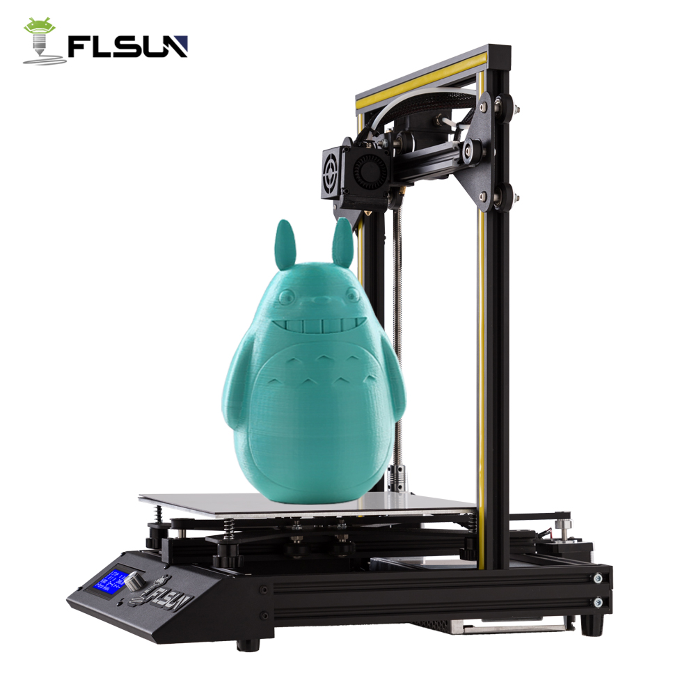 3D Printer Flsun-F4 Large Printing Size 240*240*260mm Pre-assembly Metal Parts HeatBed One Roll Filament 2018 flsun 3d printer large size 240 240 260mm pre assembly prusa i3 3d printer metal parts heatbed support free pla filament