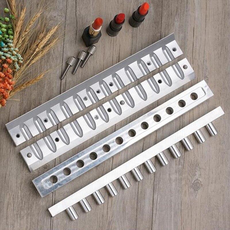 1 Set 12 1mm Aluminium Lipstick Mould 12 Cavities Holes for DIY Lip Mold Filling Mould
