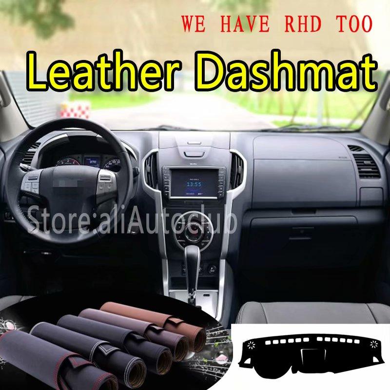 For Isuzu MU-X MUX D-Max 2011 2013 2012 2014 2015 2016 2017 Leather Dashmat Dashboard Cover Dash Mat SunShade Carpet Car Styling