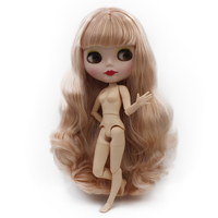 Blyth Doll BJD,Neo Blyth Doll Nude Customized Matte Face Dolls Can Changed Makeup and Dress DIY,1/6 BallJointed Dolls NO48