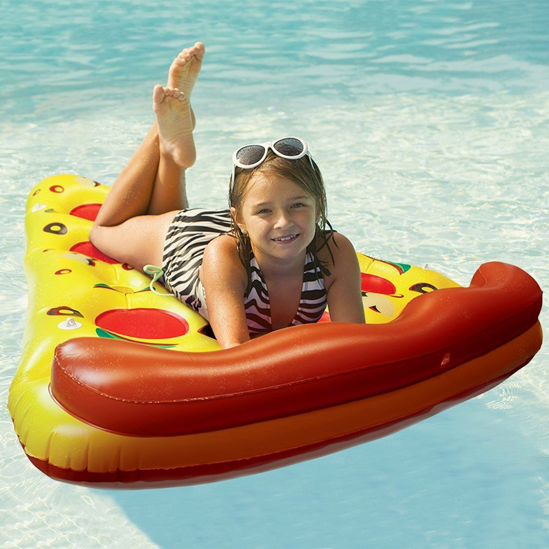 Inflatable Yellow Pizza Pool Toys Float  Inflatable Swimming Rings for Pool Party Favor Summer Holiday Water Air Mattress toys (2)
