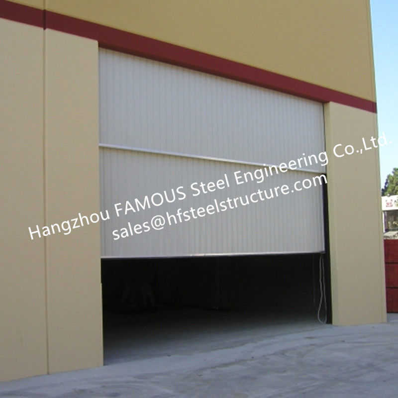 Segmental Overhead Steel Garage Doors Vertical Lifting Counter Weight Sectional Industrial Doors