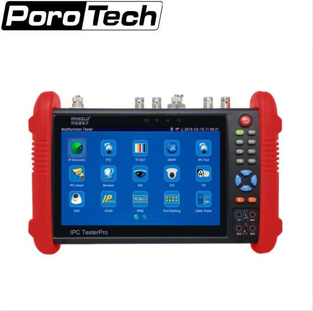 IPC9800 7 inch CCTV tester IP+ Analog+AHD CVI TVI Coaxial Tester / PoE power output/ HDMI out/ Built-in WIFI IPC-9800 2017 new hot sale 7inch cctv tester for ipc 9800 movtadhs plus