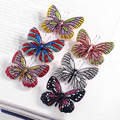 2016 Christmas Valentines Gifts Enamel Rhinestone Crystal Butterfly Brooch Pins Bridal Wedding Collar Lapel Pin Party Jewelry