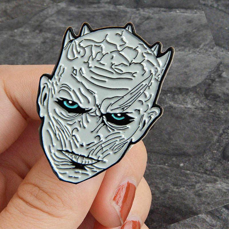 Game Of Thrones Nighr King Bros Logam Enamel Pin dan Bros untuk Wanita Pria Lapel Pin Tas Ransel Topi Lencana avengers 3