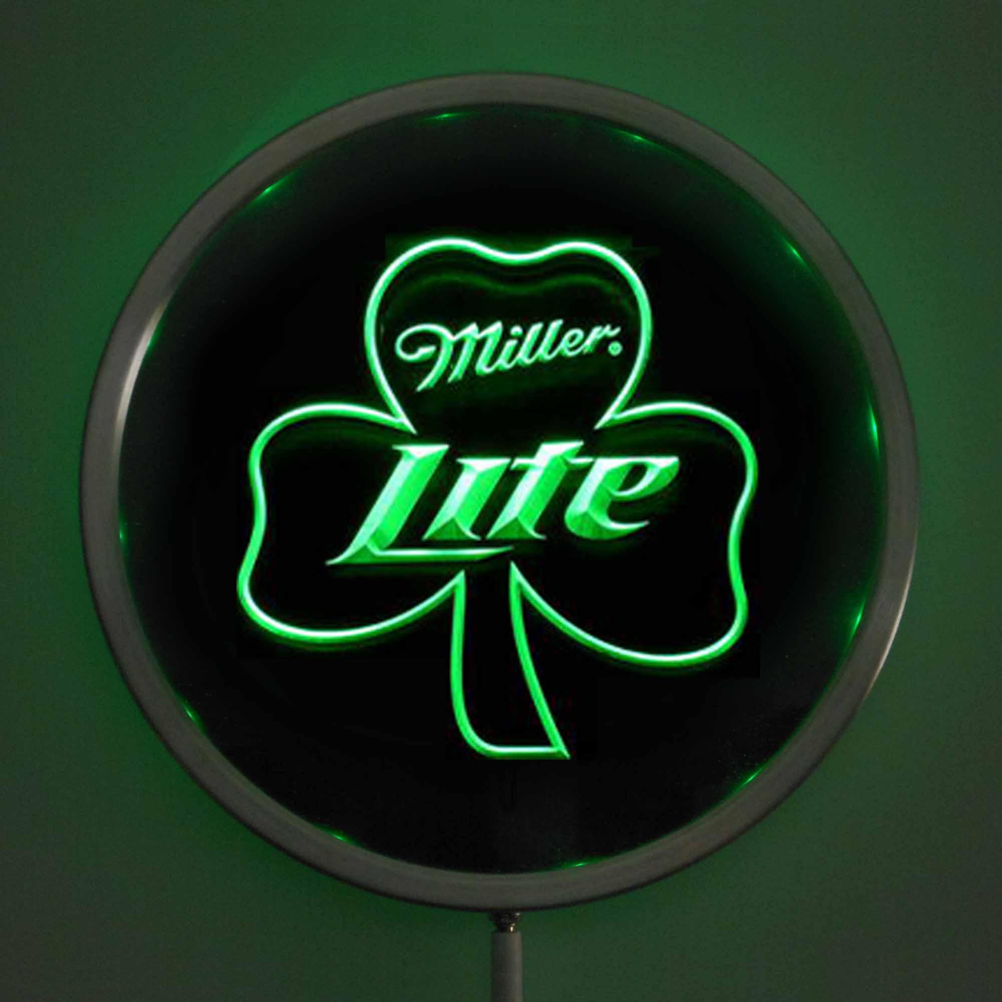 Rs 0020 Miller Lite Shamrock Led Neon Signs 25cm 10