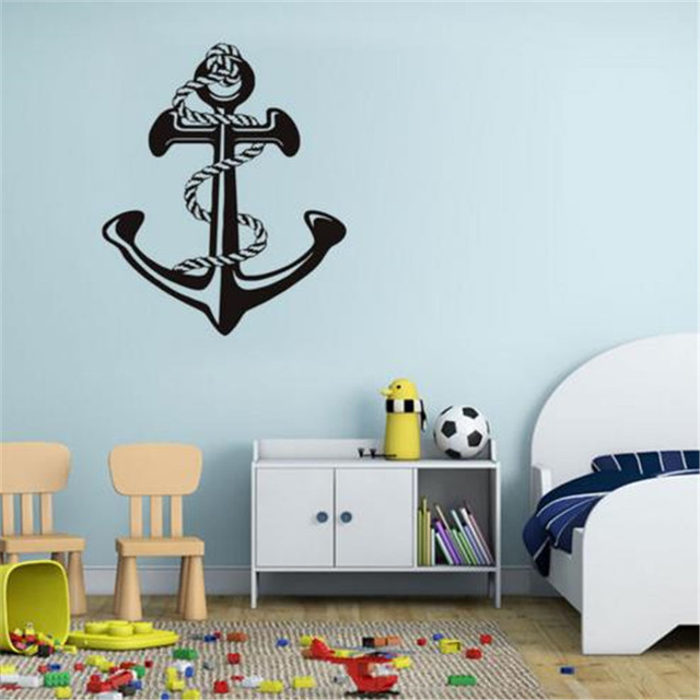 nautical ship anchor wall sticker home decor vinyl anchor art decals