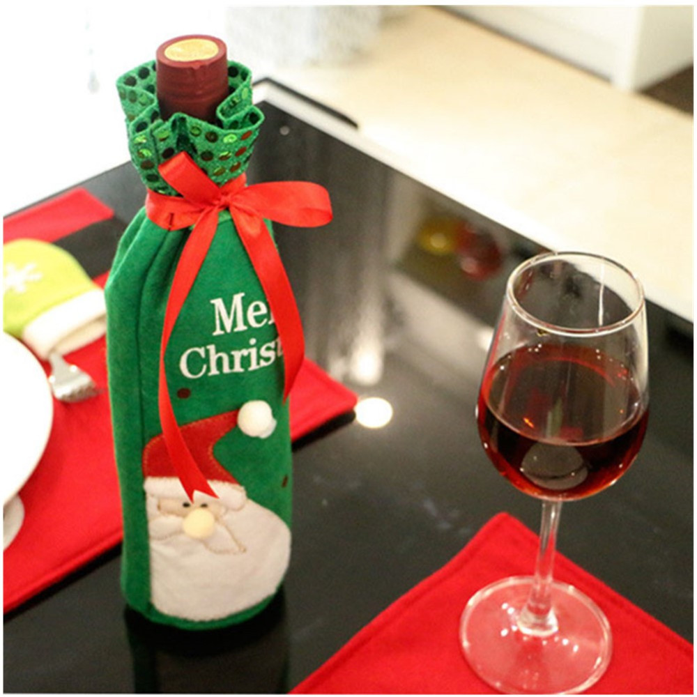 1pc-Christmas-Wine-Bottle-Bag-Dinner-Party-Decoration-Bow-Knot-Snowman-Christmas-Tree-Santa-Claus-Bottle (3)