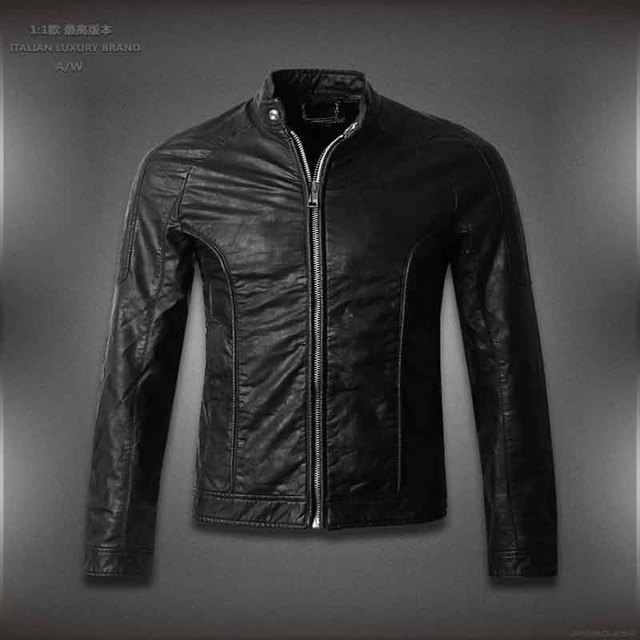 leather jacket men brand motorcycle leather jackets men ,,Hot designer Men casual Jackets size  M-4XL
