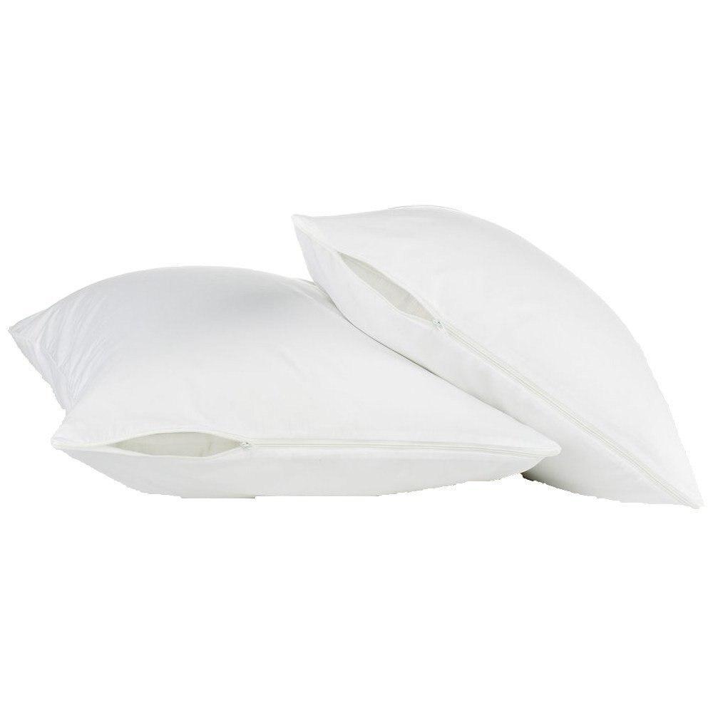 Größe 50X70 CM Hypoallergen 100% Wasserdicht Glatte Kissen Beschützer Reißverschluss Stil-Set von 2 Wanze Beweis Kissen abdeckung