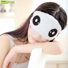 New Cute Face White Panda Eye mask Eyeshade Shading Sleep Cotton Goggles Eye mask mask mask mask Eye Eye health care