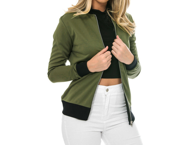 Hot Sprzedaż Jesień Tanie Ubrania Kobiet Małe Krótkie Kurtki Z Długim Rękawem Zipper Fly Outwear Kurtki Płaszcze Slim Cienkie Stylu topy Coat 3