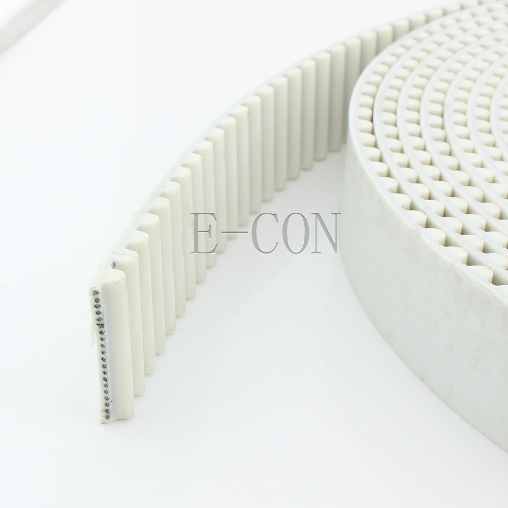 HTD8M Timing Belt Width 30mm White Prusa Mendel Steel cords Open End Cut to Length for HTD8M Timing Pulley Stepper Motor|timing belt|timing belt 30mm|belt timing - title=