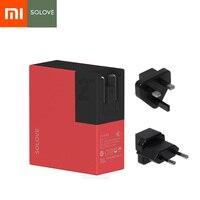Xiaomi Mijia SOLOVE 2 ב 1 נסיעות Bussiness מטען & כוח בנק 5000 mAh נייד האוניברסלי תקע ארה