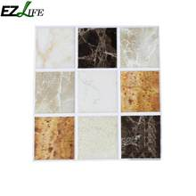 18pcs/set Self Adhesive Marble Mosaic Tile Wall Stickers Kitchen Bathroom Home Waterproof Wall Stickers Decoration Accessories(China)