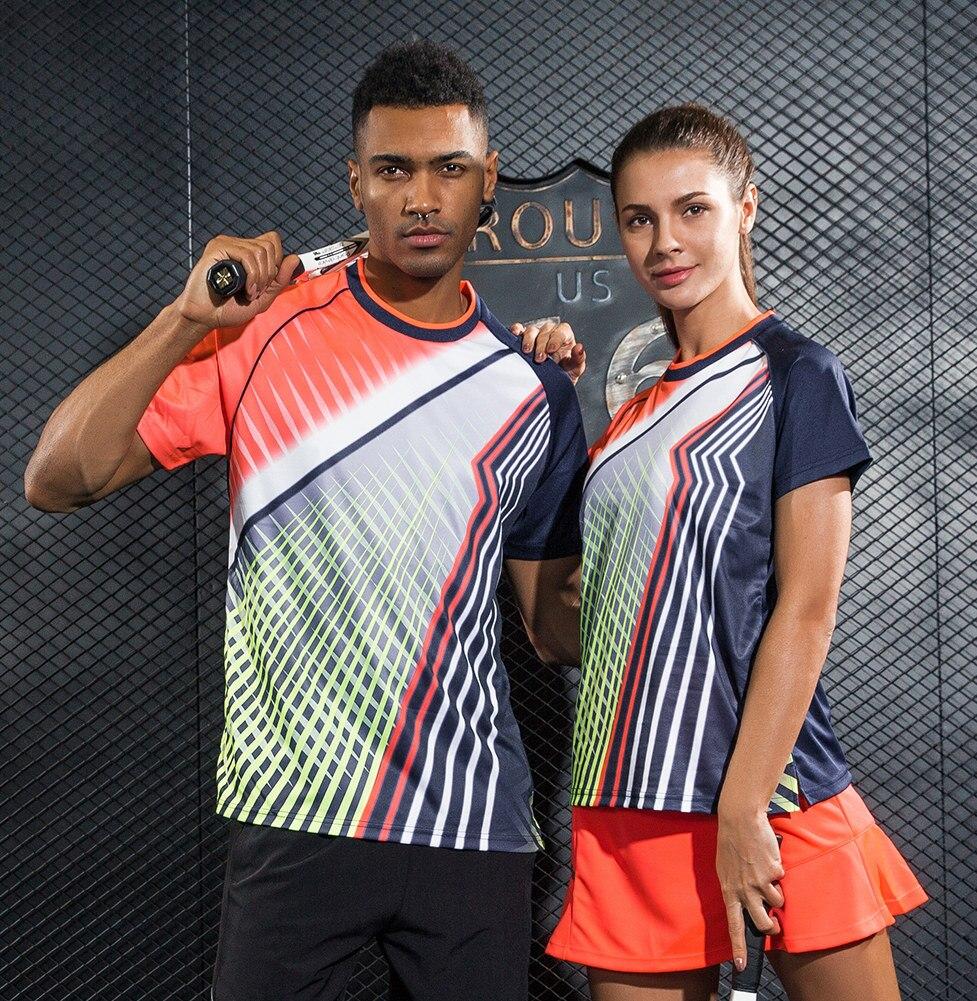 Running Sportswear Quick Dry Breathable Multicolor Badminton Shirt Women Men Table Tennis Clothes Team Training T Shirts Jerseys