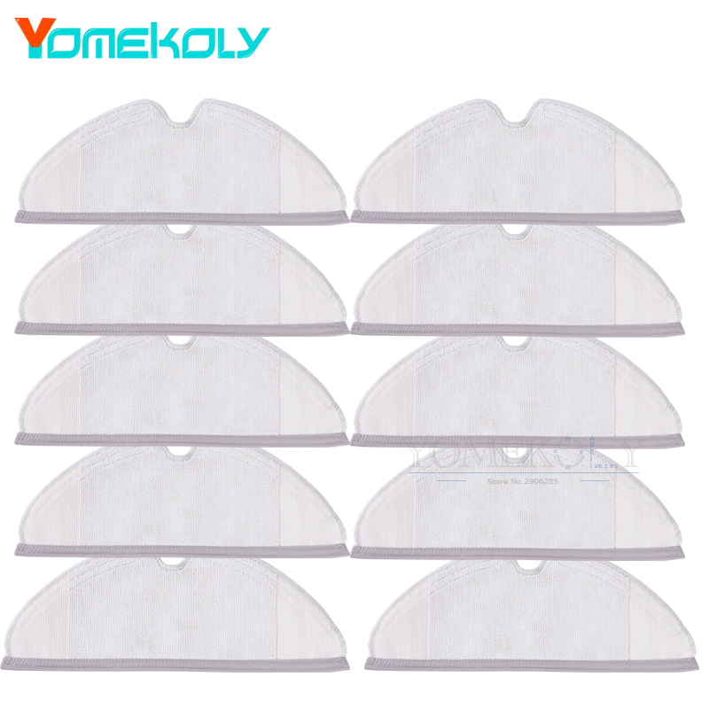 10pcs Mop Cloths Pads Washable Cloth Mopping Pad for Xiaomi Generation 2 Roborock Vacuum Cleaner Spare Parts 1 piece washable reusable replacement microfiber mopping cloth for haier robot vacuum cleaner t320 mop cloths 284 1 163 6mm
