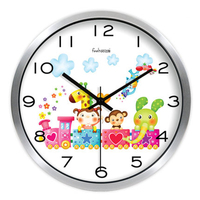 Cartoon Cute Wall Clock Colorful Large Glass Clock Movement Silent Plastic Marij Uana Mural Big Wall Watches Home Decor 50ZB0175