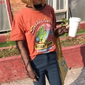 Halajuku Style Fashion New Cartoon Cactus  Female T-shirt Silk Screen Patchwork Long Sleeve Female T-shirt