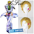 Sofeel goods in stock JOJO'S BIZARRE ADVENTURE Kira Yoshikage short golden cosplay wig free shipping