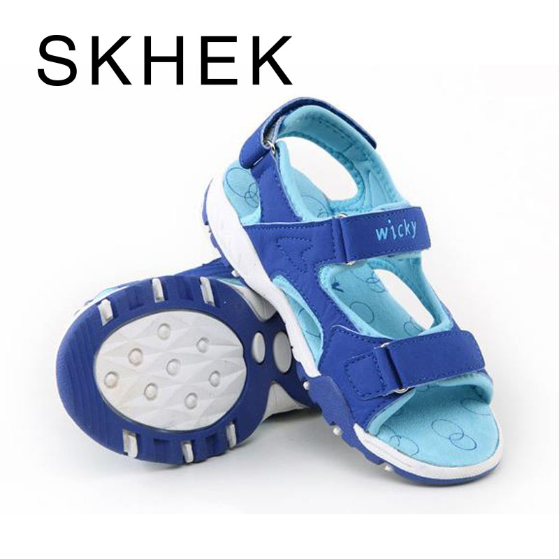 SKHEK Brand Children Kids Shoes Childrens Sandals Summer Comfortable Breathable High-Quality Leather Material Beach Shoes