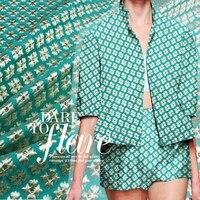 High Quality European Jacquard Brocade Fabric For DIY Spring Suit Coat Windbreaker Heavy Cloth Material 1Meter