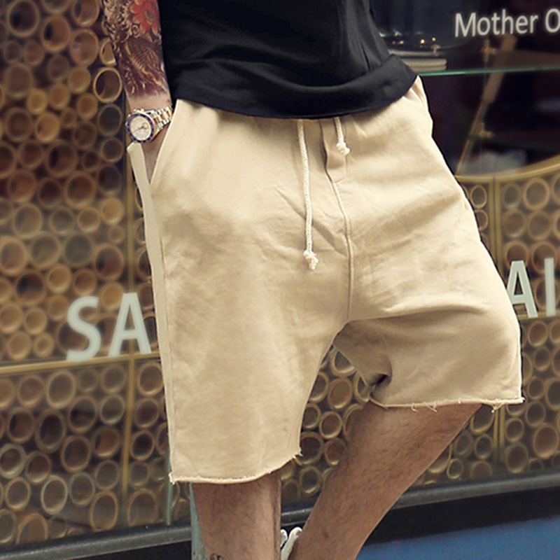 2018 New Men Summer Cotton Shorts Men Solid Casual Hot Sale Short Pants Men Loose High Quality British Style Fashion Shorts