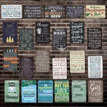 [WellCraft] cerveza de vida de las Reglas de La caravana cita placa de Metal de la pintura de la pared signo de estaño personalizado antiguo bar Pub decoración HY-1692