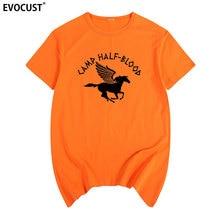 Camiseta divertida de verano con sonido de Isla Larga de Percy Jackson de half blood de camp, Camiseta de algodón para hombre, nueva camiseta informal de moda para mujer