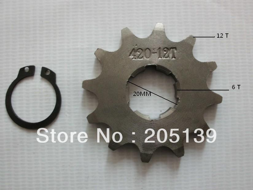 NEW 12 t tooth 20MM FRONT ENGINES sprocket FOR 420 CHAIN motorcycle MOTO PIT dirt ATV parts bike