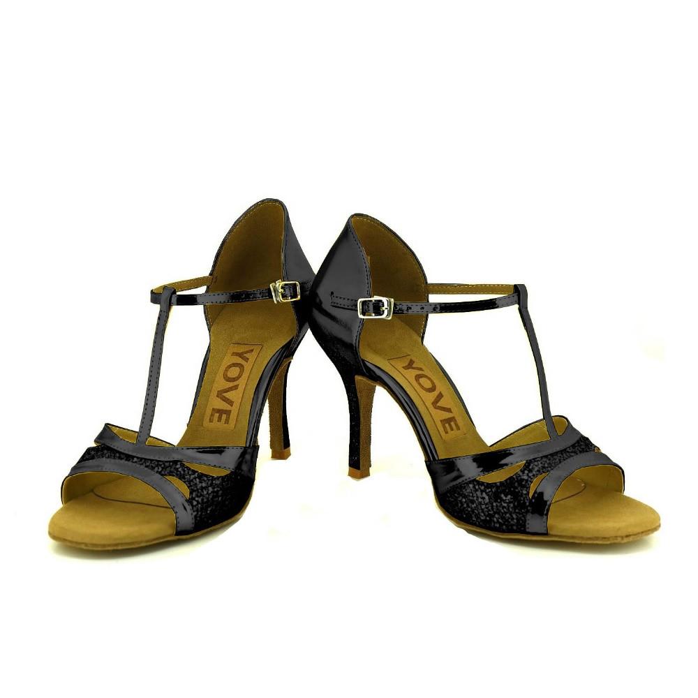 ФОТО YOVE Customizable Dance Shoes Women's Latin/ Salsa Dance Shoes 3.5