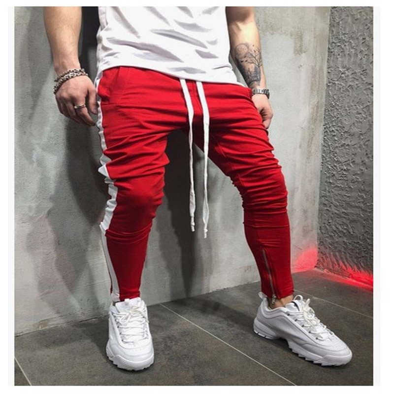 95e8f763 Men Pants New Fashion mens 2018 Side Strips Patchwork slacks Trousers  Tracksuits Bottoms Slim Fit casual