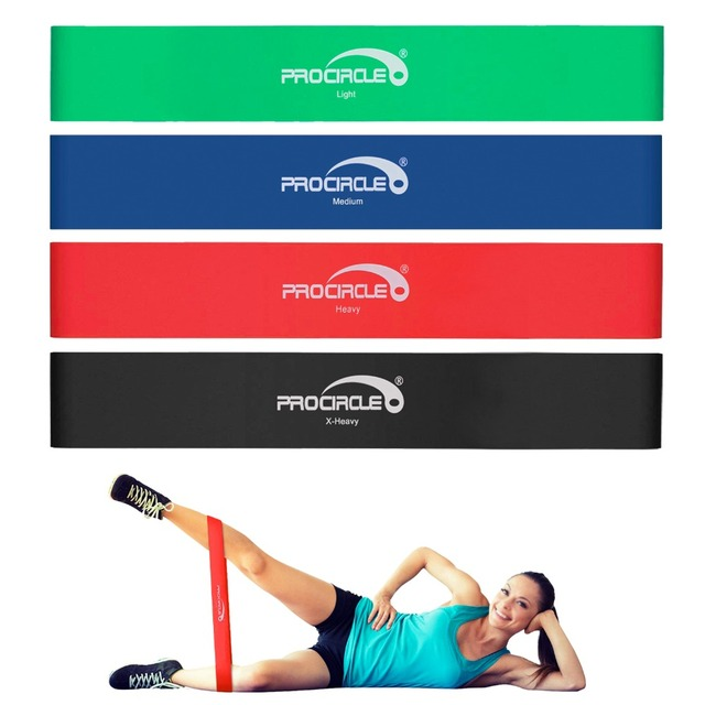 ProCircle Resistance Band Set 4/5 Levels Nature Latex Gym Strength Training Workout Rubber Bands Fitness Equipment Carry Bag