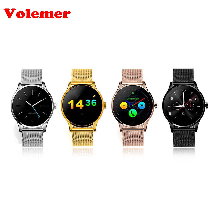 Volemer K88H Smart Watch 1.22 Inch IPS Round Screen Support Sport Heart Rate Monitor Bluetooth SmartWatch For IOS Android Phone все цены