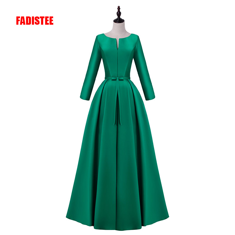 FADISTEE elegant party dress Prom Dresses Long dress Vestido de Festa satin bow long sexy backless gown