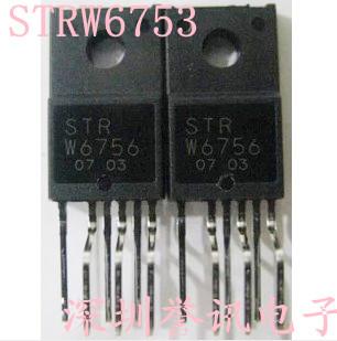 5 개/몫 STR-W6753 STRW6753 W6753 TO-220F-6 image