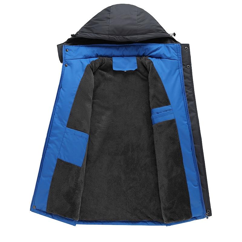 Chaud Hombre Hommes De D'hiver Hiver Noir À Coton Costume Veste Vêtements Capuchon army Green Épaississement Ropa Plus Taille Velours 2018 rouge Grande bleu 8SdwnwZq