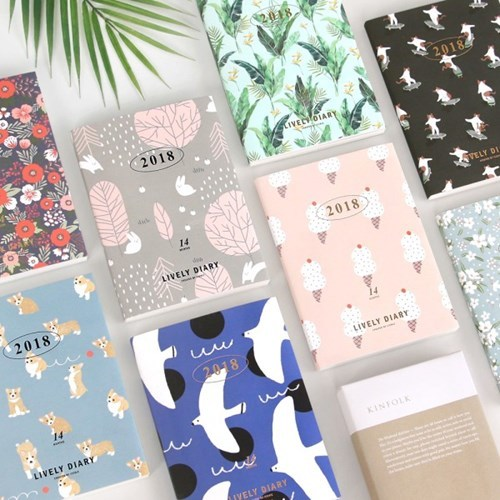 2018 New Kawaii School Notebook Paper Flower Notebook A6 Diary Blossom Korean Planner A6 Yearly Monthly Weekly Agenda Organizer never sweet pink diary a6 spiral notebook agenda 2018 personal weekly planner chancellory school supplies korean gift stationery