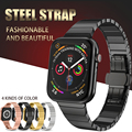 De acero inoxidable correa de reloj Apple Watch banda 40mm 44mm hebilla de mariposa correa de Metal para bandas de Apple Watch 38 MM 42mm serie 1, 2, 3, 4