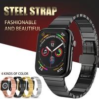 Edelstahl Strap für Apple Uhr Band 40mm 44mm Schmetterling Schnalle Metall Strap für Apple Uhr Bands 38mm 42mm Serie 1 2 3 4
