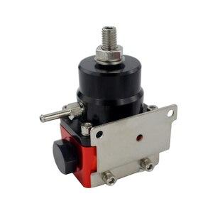 Image 4 - Vr preto & vermelho universal fpr an6 montagem efi regulador de pressão de combustível para 7 mgte mkii com linha de mangueira. fittings. gauge vr7842bkrd