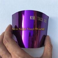 Alta Calidad Estirable Purple Chrome Película Del Vinilo Foil Para Coche que Envuelve la Burbuja Libre