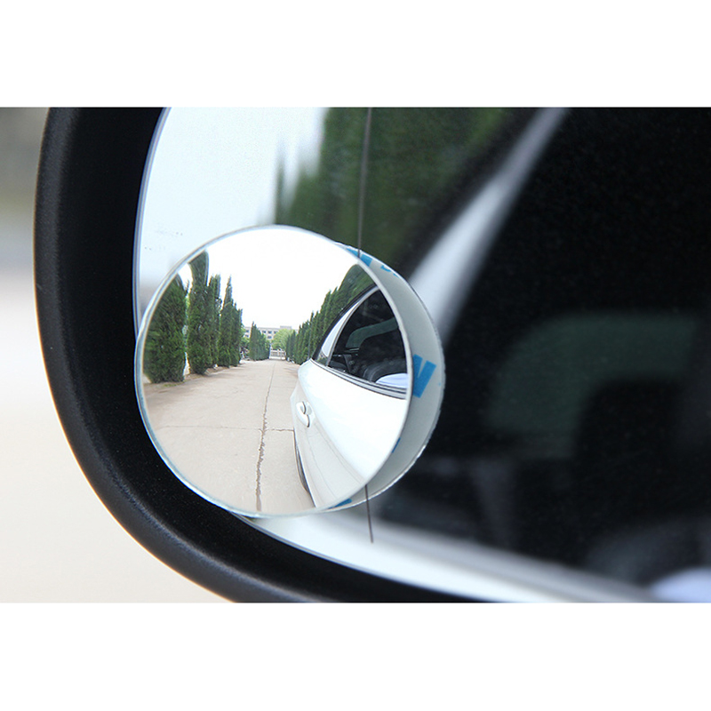 Automotive Rearview Mirror Without Border Circular Mirror Unlimited Wide Angle 360 Degrees Mirror Blind Spot Auxiliary Reverse
