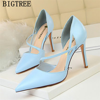 high heels sandals women pumps women shoes designer heels bigtree shoes leather fetish high heels sweet pups chaussures femme