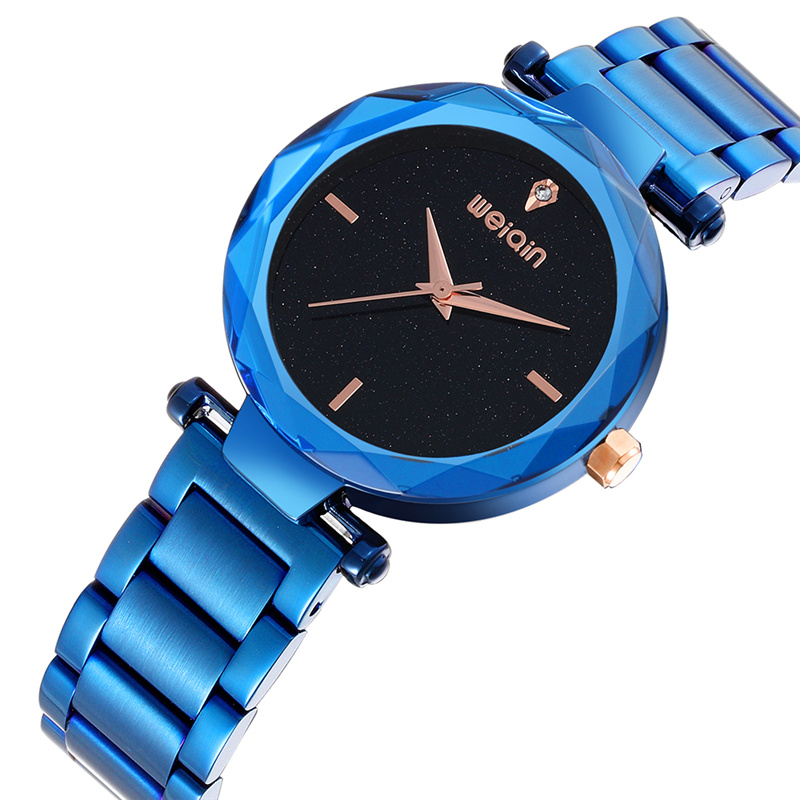 WEIQIN Blue Fashion Luxury Brand Watches Women Rhinestone Quartz Watch Ladies Beautiful Bracelet Wristwatch relogio feminino цена