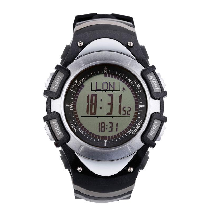 SUNROAD Sport Digital Watch FR8204A-Waterproof Barometer Compass Stopwatch Pedometer Outdoor Mens Digital Watches Clock Sliver цена
