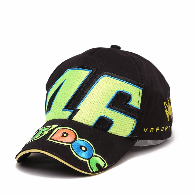 2017 Motogp Hat VR46 Baseball Cap Print and Embroidery Gorras Cotton Caps Vrfortysix Racing bone Snapback The Doctor  Rossi 46 2016 new cotton sports rossi vr46 caps motogp racing motorcycle baseball cap car visors sun hats casquette