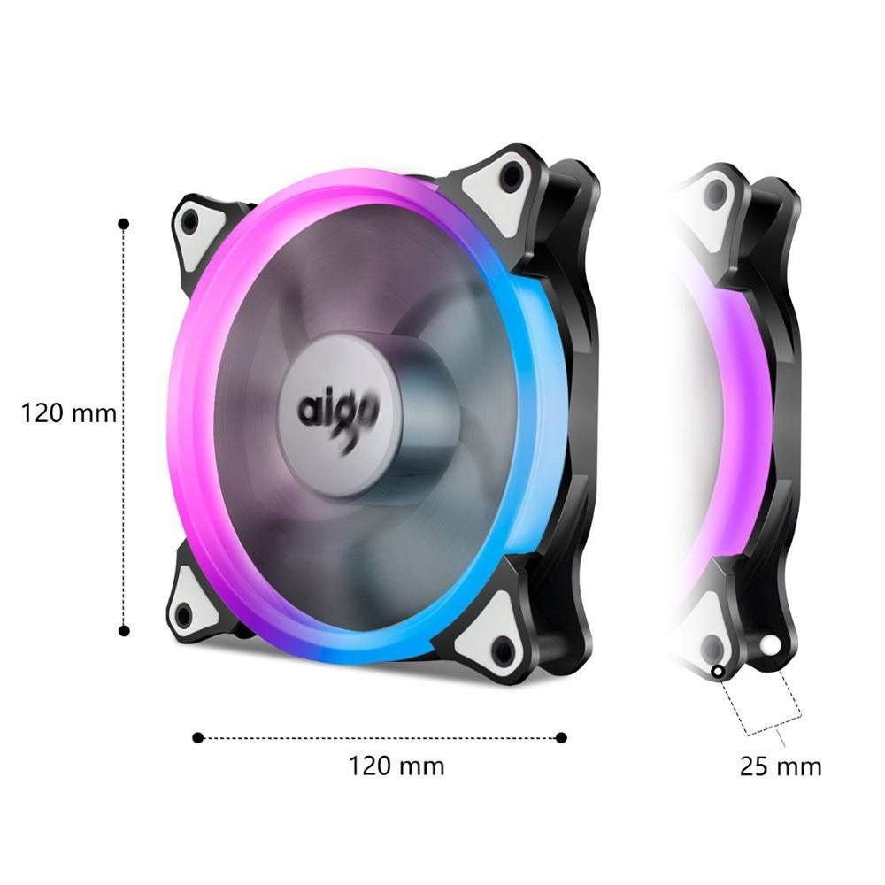 Aigo darkFlash Aurora C5 Kit PC boîtier ventilateur RGB LED 120mm ventilateurs de refroidissement ajuster coloré PC CPU coque d'ordinateur refroidisseur radiateur - 4