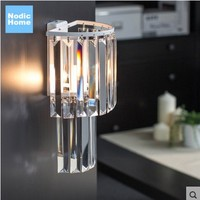 Wall Sconce Crystal Feature Modern LED Wall Lights Lamp with 1 Light For Home Lighting Free Shipping